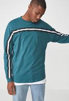 Cotton On - Drop shoulder long sleeve tee - blue