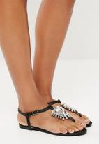 Public Desire - Humera diamante sandal - black