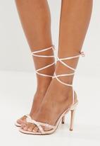 Public Desire - Contour lace up heel - pink