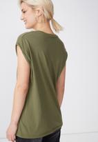 Cotton On - Tbar Kelly drop shoulder - khaki