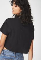 Cotton On - Tbar Arizona graphic chop tee revolution - black