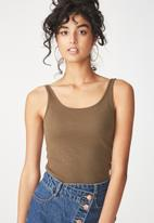 Cotton On - Everyday summer femme tank - brown