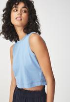 Cotton On - Baby sleeveless boxy tank - blue