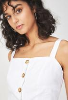 Cotton On - Carla button front tank - white