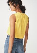 Cotton On - Baby sleeveless boxy tank - yellow