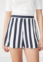 Cotton On - Maya flirty shorts - navy & white