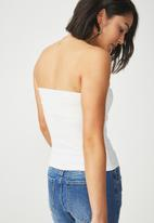 Cotton On - Billie knot front strapless bustier - white