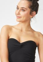 Cotton On - Billie knot front strapless bustier - black