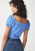 Cotton On - Cleo blouse - blue & white