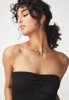 Cotton On - Rocky rouched front tube top - black