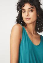 Cotton On - Tia scooped high low tank - green