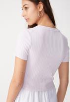 Cotton On - Beth close to the body rib top - purple