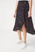 Cotton On - Woven dana drapey midi skirt - multi