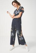 Cotton On - Woven jordy cap sleeve jumpsuit - multi