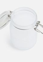Kilner - White frosted clip jar top - 1l