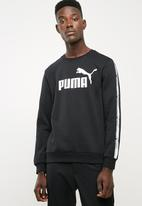 PUMA - Tape crew top - black