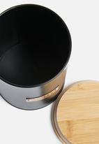 Typhoon - Ebony coffee storage - black