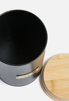 Typhoon - Ebony tea storage - black