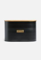 Typhoon - Ebony bread bin - black