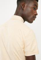 New Look - Muscle oxford stripe short sleeve shirt - yellow