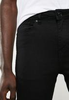 New Look - Skinny side tape jeans - black