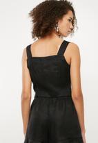Superbalist - Button front cami - black