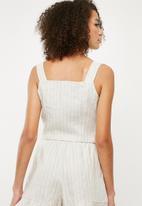Superbalist - Button front cami - beige & white