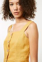 Superbalist - Button front cami - yellow
