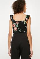 Superbalist - Button through fitted cami - black