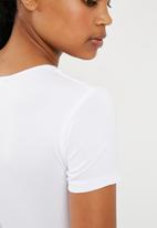 Missguided - Slogan maybe later T-shirt - white
