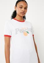 f1b753f9c Feelin' peachy T-shirt - white Missguided T-Shirts, Vests & Camis ...