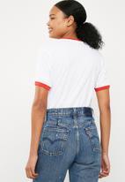 Missguided - Feelin' peachy T-shirt - white