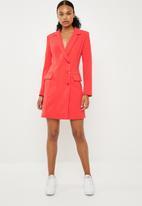 Superbalist - 2 Button blazer dress - coral