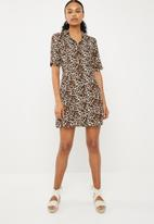 Superbalist - Short shirt dress - brown & beige