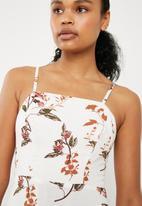 Superbalist - Square neck fit & flare midi dress - multi
