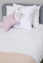Little Love - Linen star cushion - lavender pink
