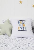 Little Love - Linen star cushion - mint