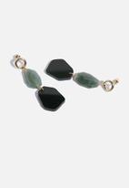 Superbalist - Anna statement earrings - black & grey