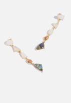 Superbalist - Pearl stone drop earrings - multi