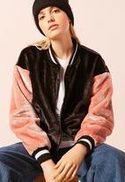 Forever21 - Colourblock Jacket Charcoal