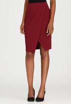edit - Knit Wrap Skirt Dark Red