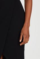 edit - Knit Wrap Skirt Black
