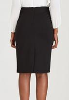edit - Knit Skirt with Lace Inset Black