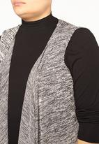 EVANS - Sleeveless Cardigan Black