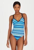 Sun Things - Multi-Strap One-Piece Costume Blue and White