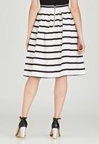 Revenge - Horizontal Striped Skirt White
