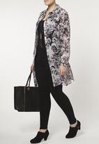 EVANS - Oversized Floral Shirt Multi-colour