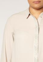 EVANS - Sparkle Shirt Beige