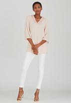 edit - V-neck Tunic Pale Pink