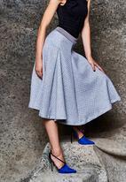 Gert-Johan Coetzee - Flare Skirt with Panels Grey Mid Grey